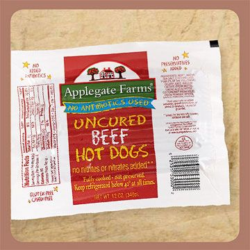Applegate Farms Uncured Beef Hot Dog