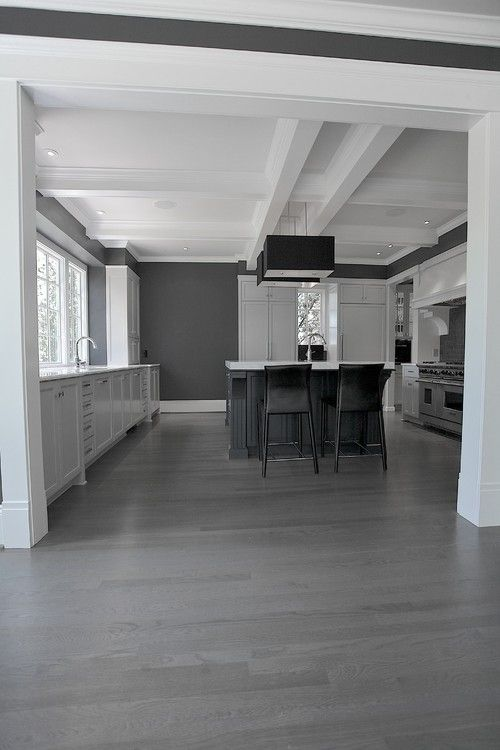 Gray Kitchen with Hardwood Floors 500 x 750