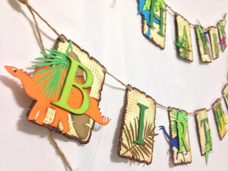 DINO-MITE: Dinosaur Birthday Banner, 2 pc