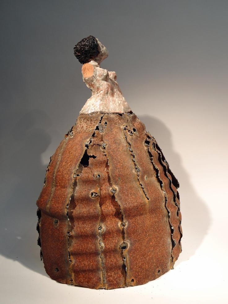Boisseau Ceramique : Crinoline Princess by Philippe Chesneau C?ramique et acier oxyd? H L