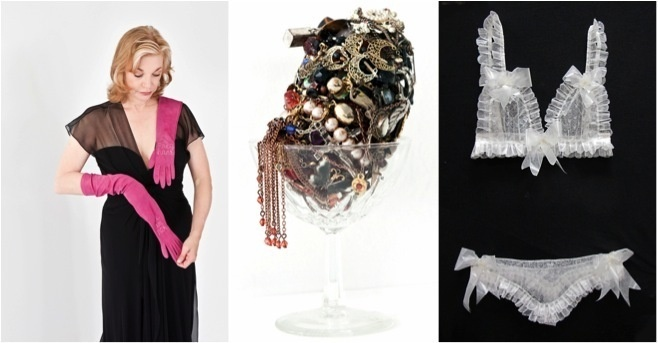 Gloves, vessels and lingerie by Vadis Turner