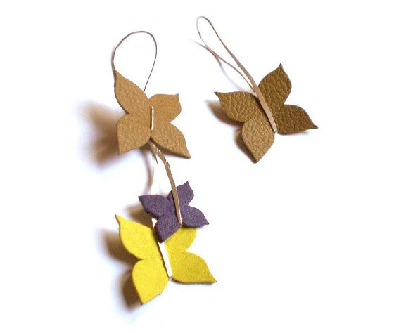 BUTTERFLY handmade leather earrings...I WANT!!!!