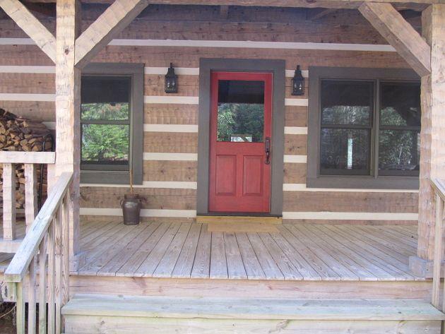 Extraordinary Log Home Front Door Colors Ideas - Exterior ideas 3D ...