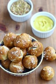 Soft pretzel balls and hot mustard...YUM | Cooking | Pinterest