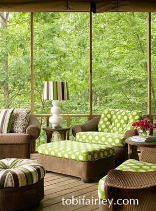 Inviting and fun outdoor space designed by Tobi Fairley
