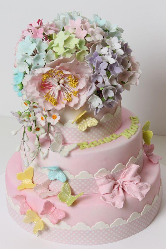 Summer Pastel Flowers Wedding Cake Photo Wedding Cakes Pinterest
