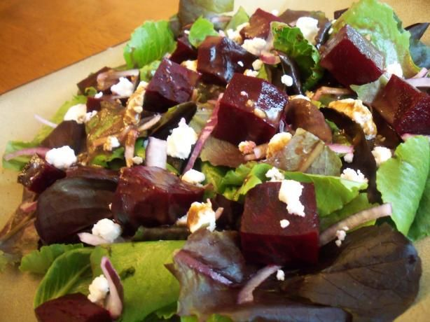 Roasted Beet and Goat Cheese Salad. Photo by *Parsley*