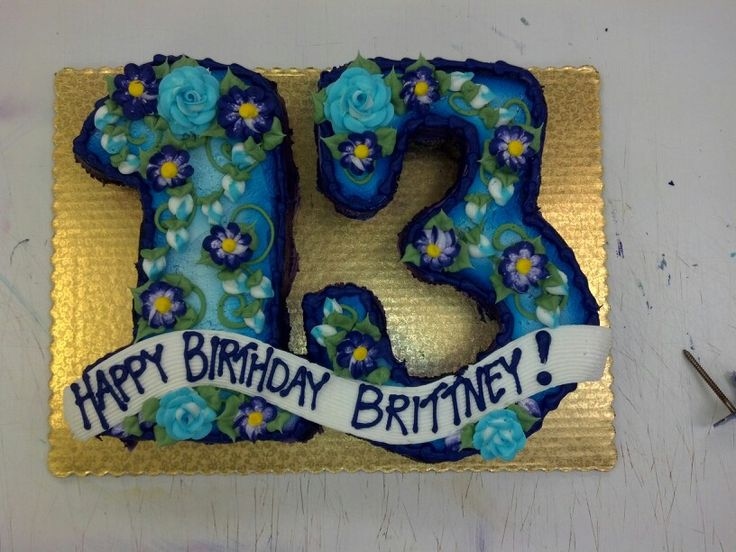 Cake Ideas For A 13th Birthday Party : 13th birthday cupcake cake Party ideas Pinterest