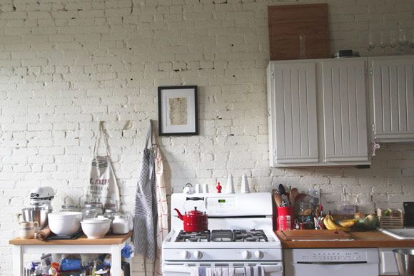 Tegelvagg Kok Inspiration : Den ofordiga stilen stark o tegelvogg i koket nosta trend