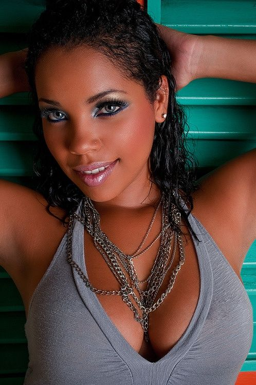Ebony babe green eyes