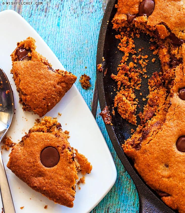 Whole Wheat Chocolate Chip Skillet Cookie // wishfulchef.com