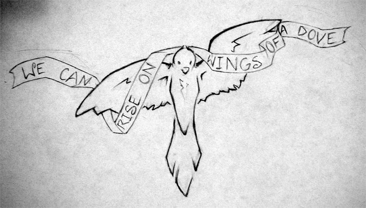 Dove tattoos with banners - photo#19