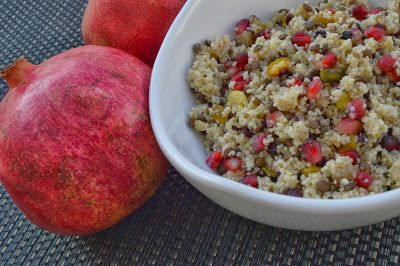 ... : Black Lentil and Couscous Salad with Pomegranate and Pistachios