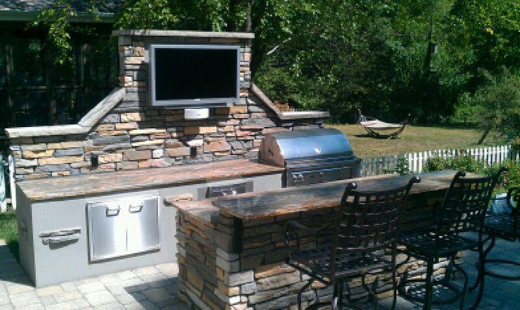 Outdoor Kitchen U0026 TV | Future Home Ideas | Pinterest