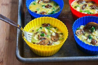 Baked Mini-Frittata Recipe with Mushrooms, Cottage Cheese, and Feta ...
