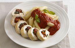 Chicken Pinwheels with Pasta   NomNom   Pinterest