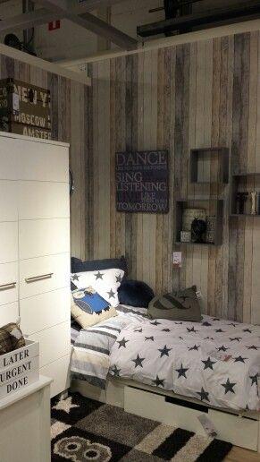 Steigerhout behang  For Boys only.....  Pinterest