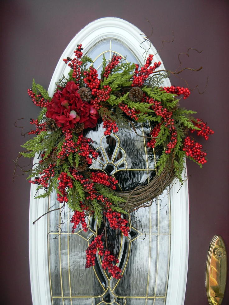 Beautiful grapevine door wreath christmas pinterest - Bader weihnachtsdeko ...