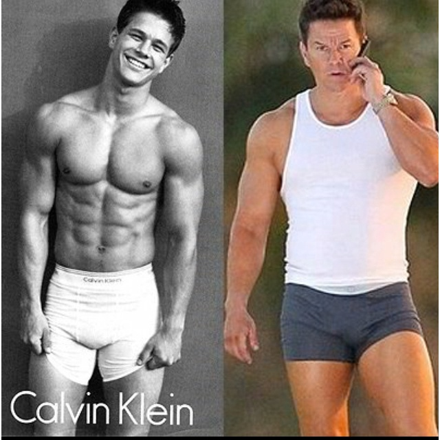 Mark wahlberg then and now i 39 ll take either random for Domon men s underwear