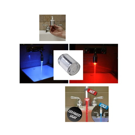 """Waterglow LED Faucet Head (Retail price $29.99) """"Our price $9.00"""" only at nomorerack"""