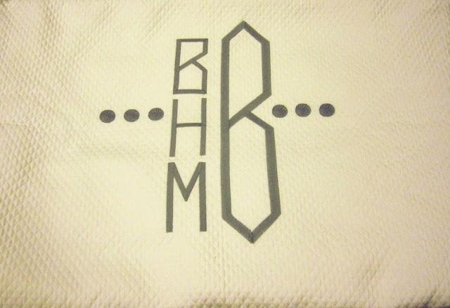 four letter monogram