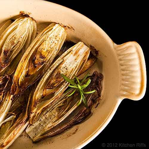 Roasted Belgian endive. I've only ever served these raw, as part of a ...