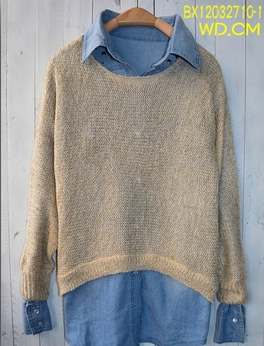 blouse with knitsweater ,nice match! v