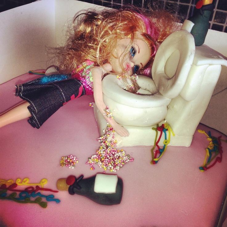 Drunk Barbie Cake Images : Drunk birthday barbie cake 22nd birthday Let them eat ...