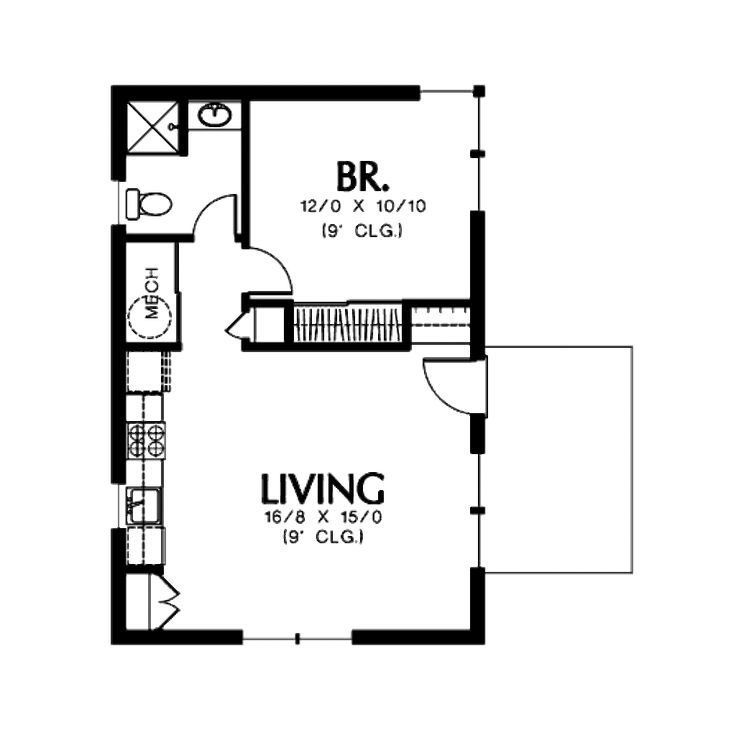 20x30 Guest House Plans on 2 bedroom cottage floor plans
