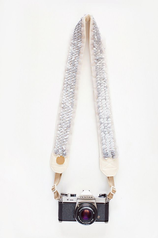 think we need this: sequined camera strap