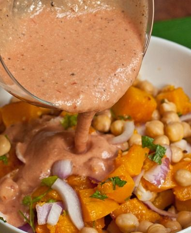 Warm Butternut Squash and Chickpea Salad | Vegan Food | Pinterest