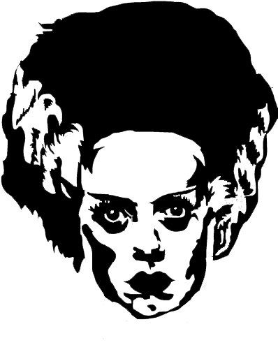 Bride of Frankenstein Universal Monster Vinyl by LunasHaven   10 00Frankenstein Head Silhouette