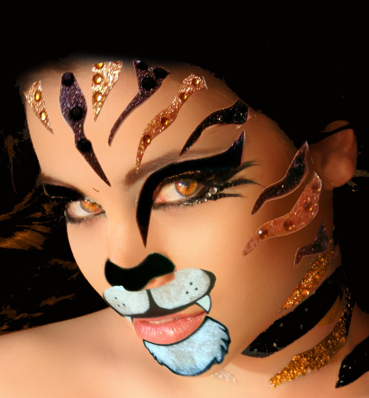 Tiger Costume Body Paint