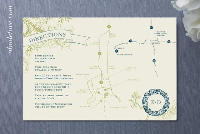 Wedding Invitation Map Abodelove