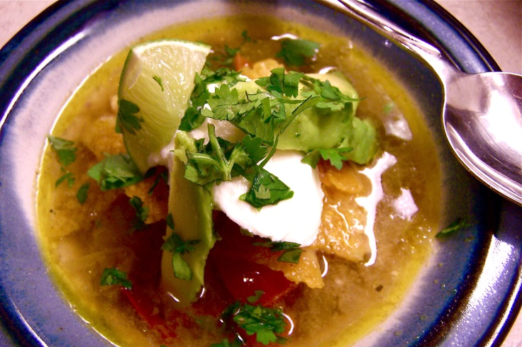 chicken green chile soup | Food Lovers - Soups | Pinterest