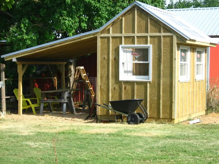 Garden Shed With Side Storage Shed Garage Pinterest