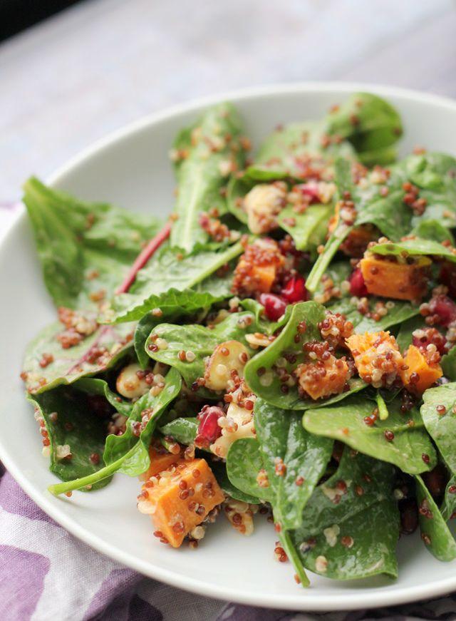 ... Quinoa and Power Greens Salad with Smoky Meyer Lemon Vinaigrette