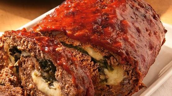 Rolled Italian Meat Loaf | Baking | Pinterest