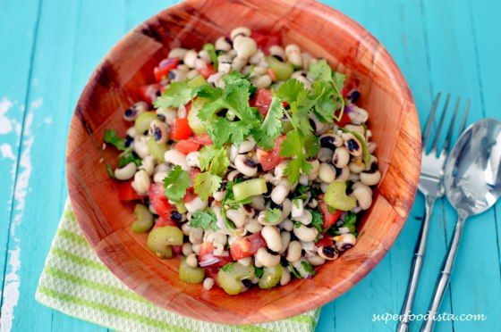 Black-Eyed-Peas-Salad-1 | vegan foods to stick in my mouth | Pinterest