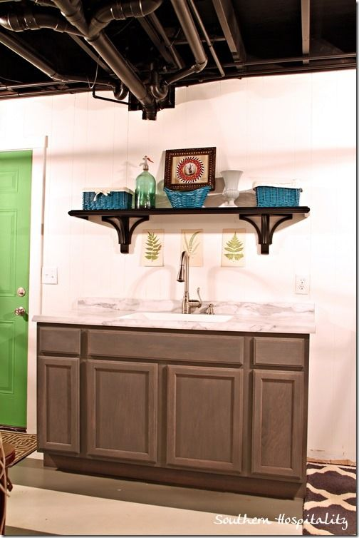 Laundry Room Sink Base Cabinet : Utility Sink with Cabinet Base Laundry Room Sink Update - Southern ...