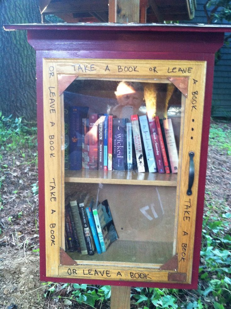 Outdoor book trading box children s library pinterest