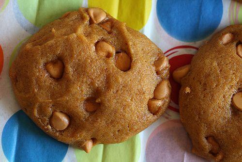 Pumpkin Cookies with Butterscotch
