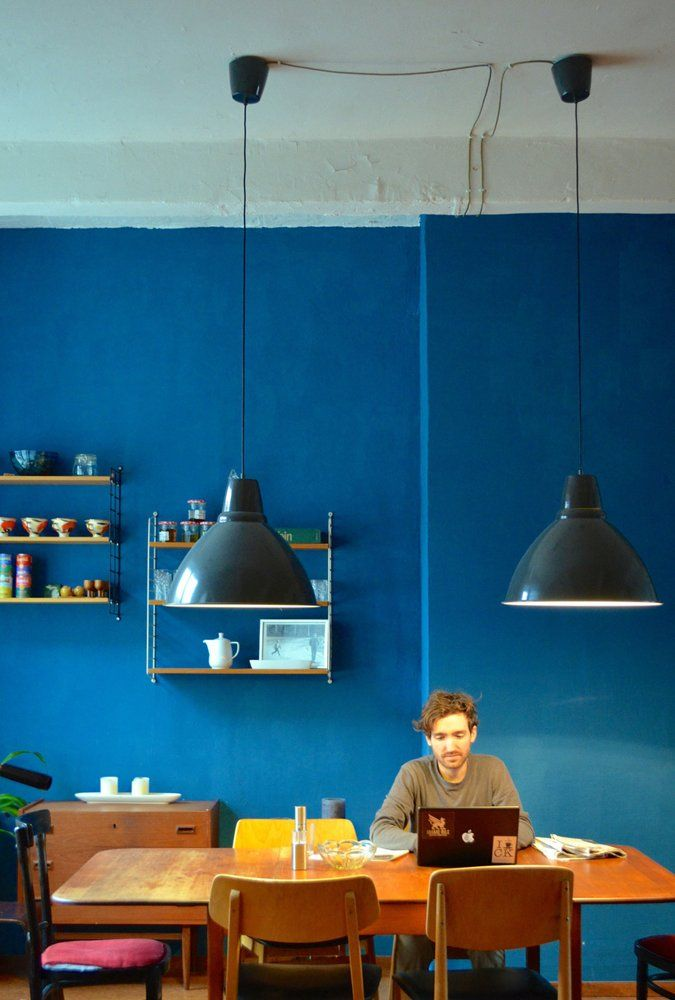 Blue corys former factory loft in berlin house tour apartment