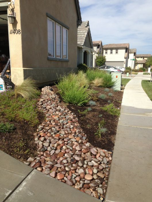 River Rock And Landscaping : River rock native landscape for the home