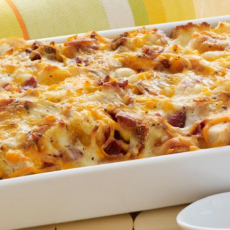 Cheesy Bacon & Egg Brunch Casserole. Bakers note: ditch the cottage ...