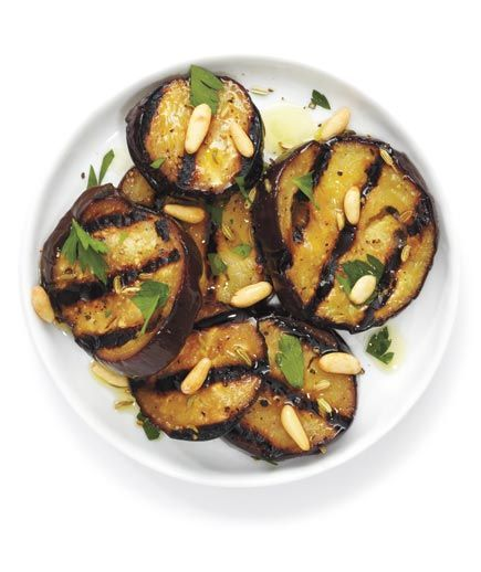 Grilled Eggplant With Parsley and Pine Nuts Marinate the eggplant in ...