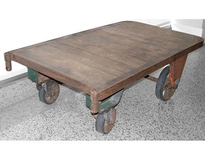 Antique Warehouse Cart On Wheels Would Make A Great Coffee Table