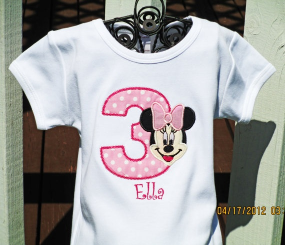 Minnie Mouse Birthday Shirt  Minnie Mouse by TheRaspberryBunny, $24.95