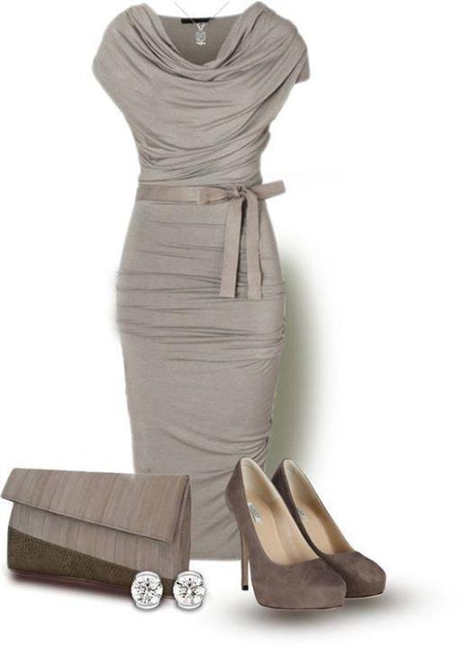 Amazing Silver grey dress