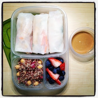Lunch in a Box: Chili-Lime Tofu and Veggie Spring Rolls # ...